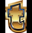 Golden Font Letter t vector image vector image
