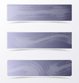 Gray banners with brush strokes vector image