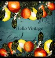 grunge vintage styled background with lemons vector image vector image