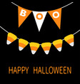 happy halloween card bunting flags pack boo