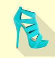 high heels sandals woman flat isolated vector image