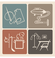 Household icons vector image vector image