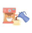 international day coffee machine cup vector image vector image