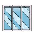 isolated window design vector image