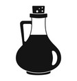 italian olive oil bottle icon simple style vector image