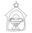 jesus baby child vector image