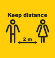 keep distance social vector image vector image