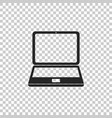 laptop icon isolated on transparent background vector image