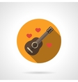 Love melody colorful round flat icon vector image vector image