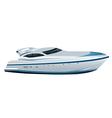 luxe speed yacht vector image