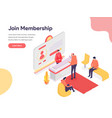 membership concept isometric design concept vector image