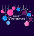 merry christmas holiday background with hanging vector image vector image