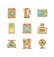 minimal lineart flat household appliances iconset vector image vector image