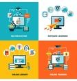 Online Education Design Concept Set vector image vector image