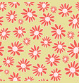 orange gerbera flowers seamless pattern vector image