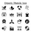 organic lifestyle icon set graphic design vector image vector image