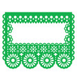 papel picado - mexican paper decoration vector image vector image