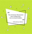 pop-art banner woodrow wilson revolution quote vector image