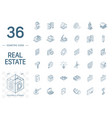 real estste and rent apartment isometric line vector image vector image