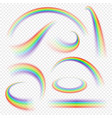 realistic rainbow curve vector image