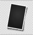 realistic retro photo frame with figured edges vector image vector image