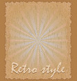 retro style poster vertical vector image vector image