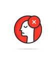 Round icon like linear dismissal logo