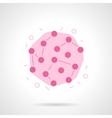 Rubella virus flat color design icon vector image