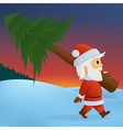 santa carry pine vector image