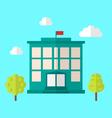 School Building Cityscape vector image vector image