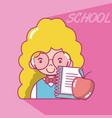 school student girl vector image