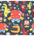 seamless graphic pattern amusing monsters vector image vector image