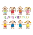 Set of Children Boys and Girls vector image