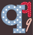Set of stitched font - Letter Q vector image vector image