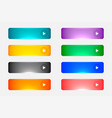 shiny or glossy web empty colorful buttons set vector image vector image