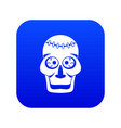 skull icon digital blue vector image