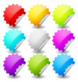 starburst shape sticker set in 9 colors empty vector image vector image