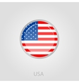 United States of America flag button vector image vector image