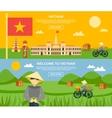 Vietnam Banner Set vector image