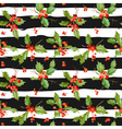 Vintage Holly Berry Background Seamless Christmas vector image