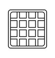 waffles icon image vector image vector image