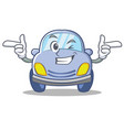 wink cute car character cartoon vector image vector image