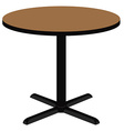 Wooden round table vector image