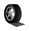 tire service isolated icon vector image
