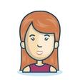 cartoon woman face isolated design vector image