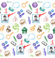set of business and start up doodles hand drawn vector image