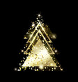 a geometric christmas tree golden glitter vector image vector image