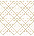 abstract white and gold wavy lines pattern vector image