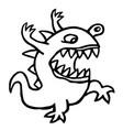 angry dino cute cartoon character vector image vector image