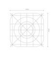 app icon dimensions development grid line vector image vector image